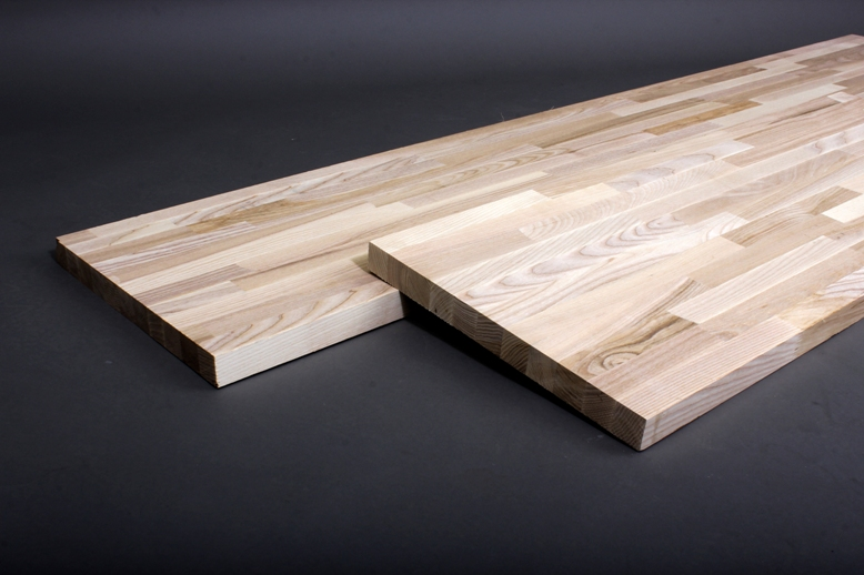 Hardwood ash wood glued furniture panels