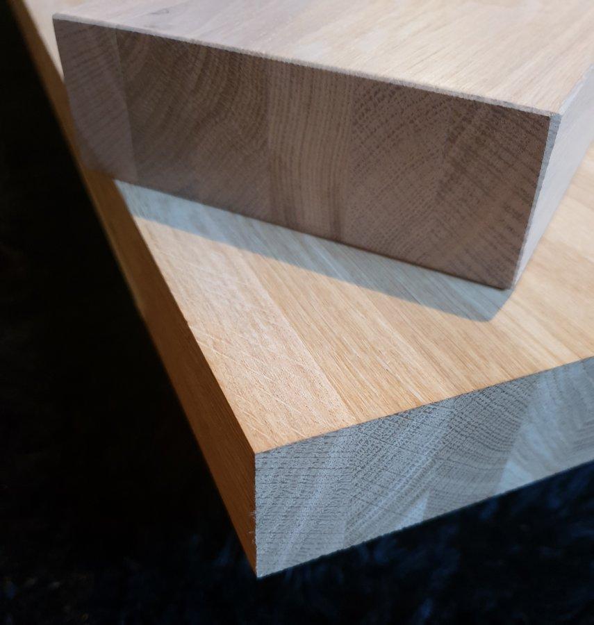 Oak Wood glued furniture panel 40x620x3000mm AB