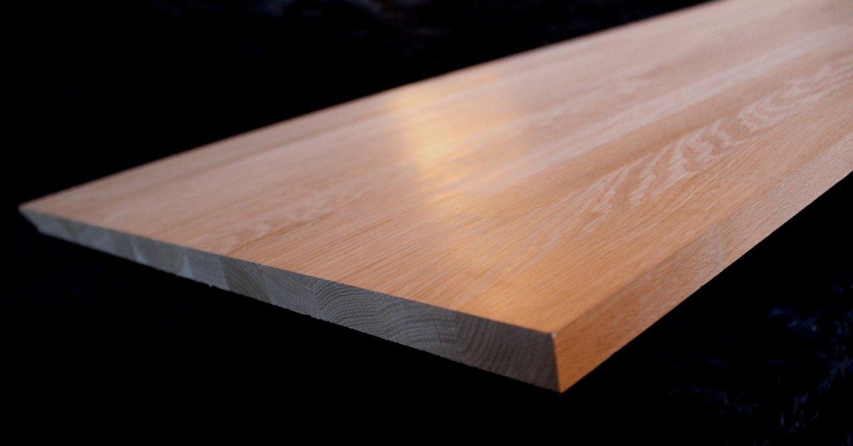 Oak Wood glued furniture panel 20x620x3000mm AB