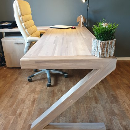 OFFICE OAK WORK TABLE (Z)