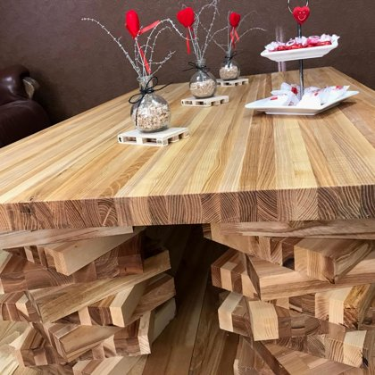 ASH SOLID WOOD TABLE AND TABLE LEGS
